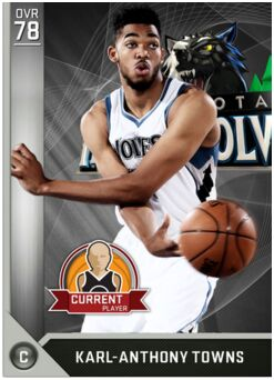 NBA 2K17 MyTeam Rating 81 Karl Anthony Towns