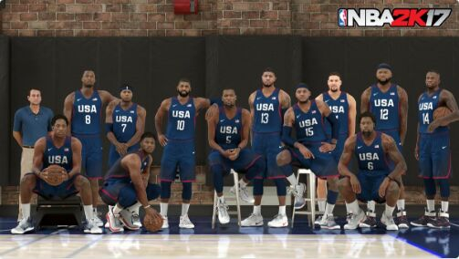 nba 2k17 features the 2016 usa basketball men