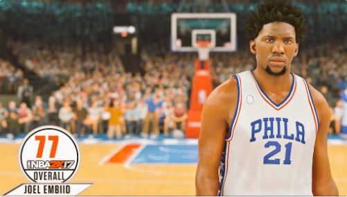 nba 2k17 ratings Joel Embiid