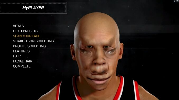 nba 2k17 face scan