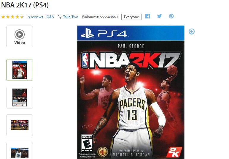 nba 2k17 black friday Walmart