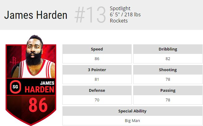 nba live mobile james harden 93