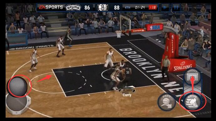 NBA Live MObile Dunk